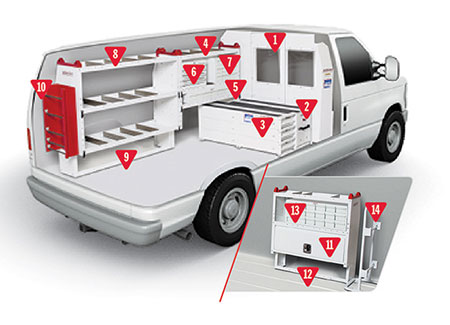 Weather Guard Electrician Van Configuration